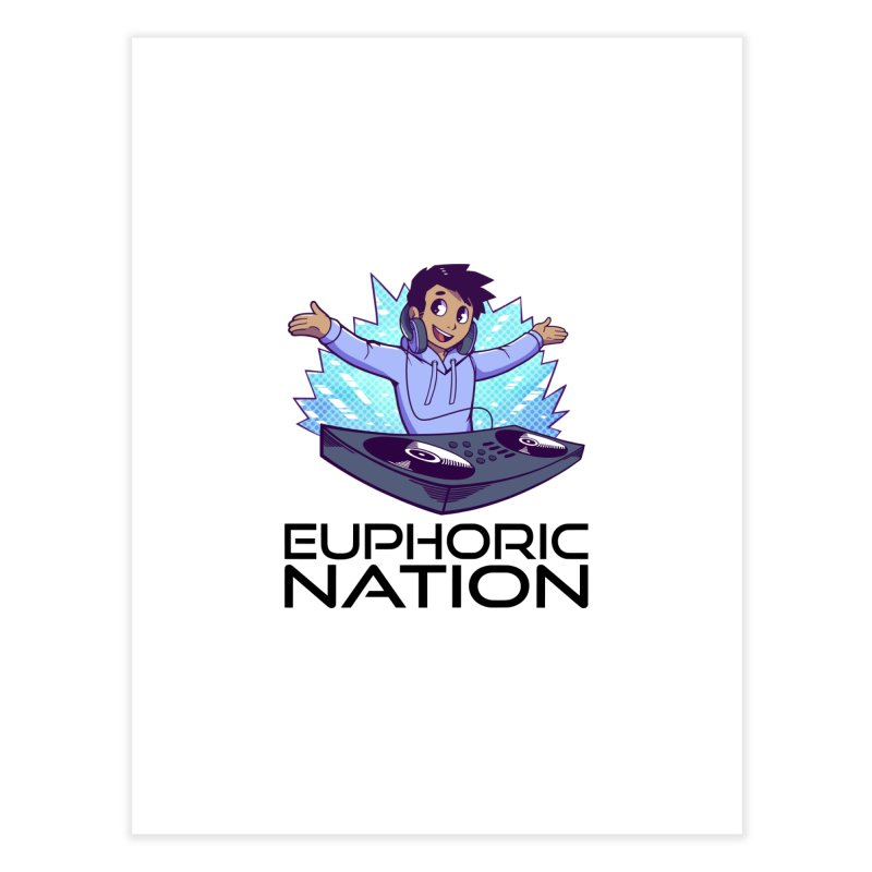 Hands Out Trance Out! Home Fine Art Print by Euphoric Nation's Merch!