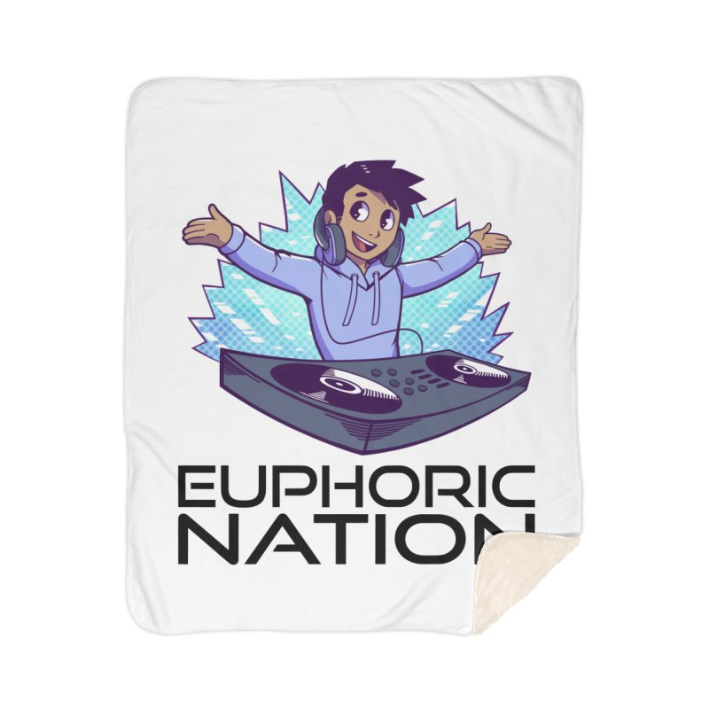 Hands Out Trance Out! Home Sherpa Blanket Blanket by Euphoric Nation's Merch!