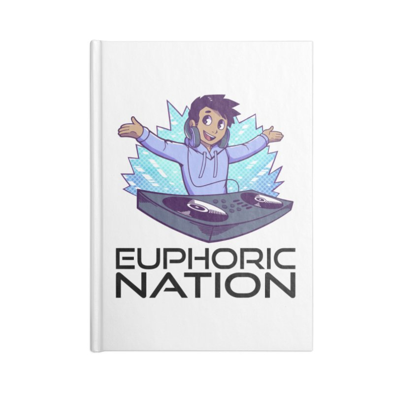 Hands Out Trance Out! Accessories Lined Journal Notebook by Euphoric Nation's Merch!