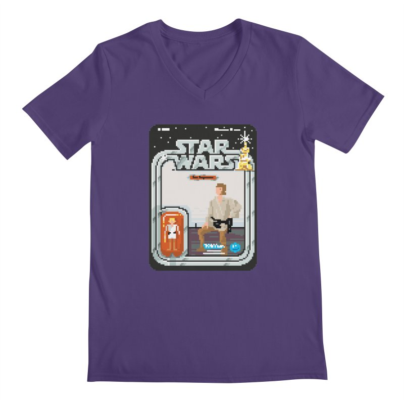 May the Pixels be With You... Always Men's V-Neck by euphospug