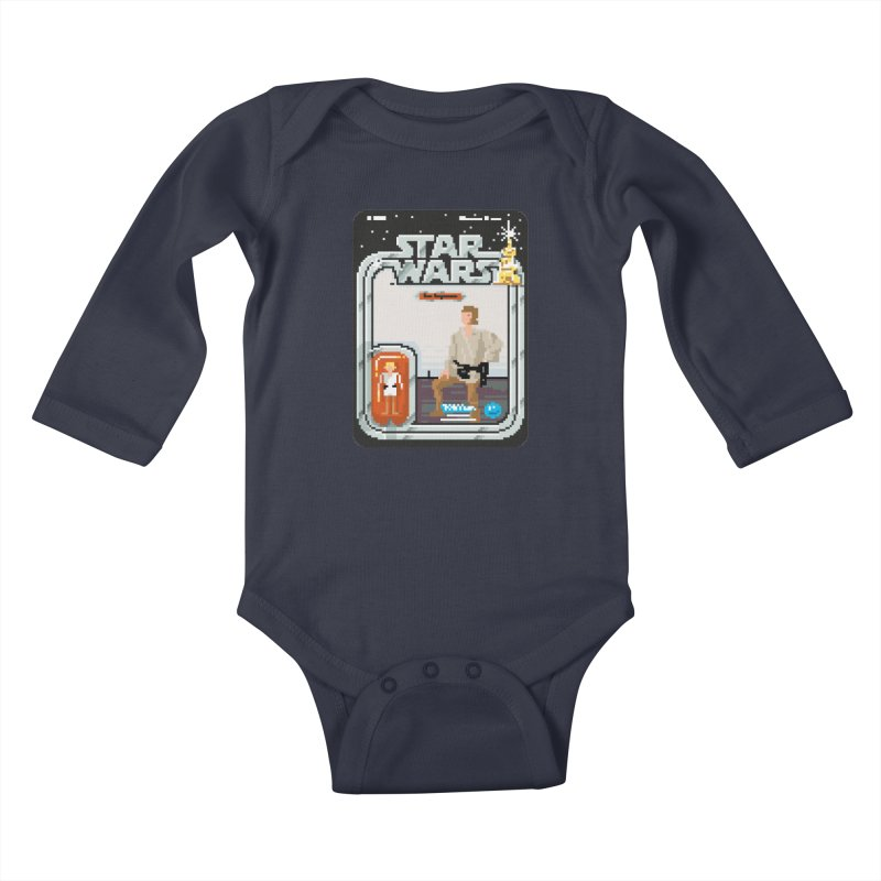 May the Pixels be With You... Always Kids Baby Longsleeve Bodysuit by euphospug