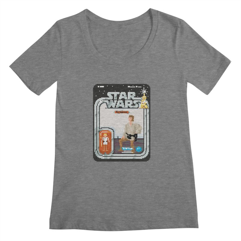 May the Pixels be With You... Always Women's Scoopneck by euphospug