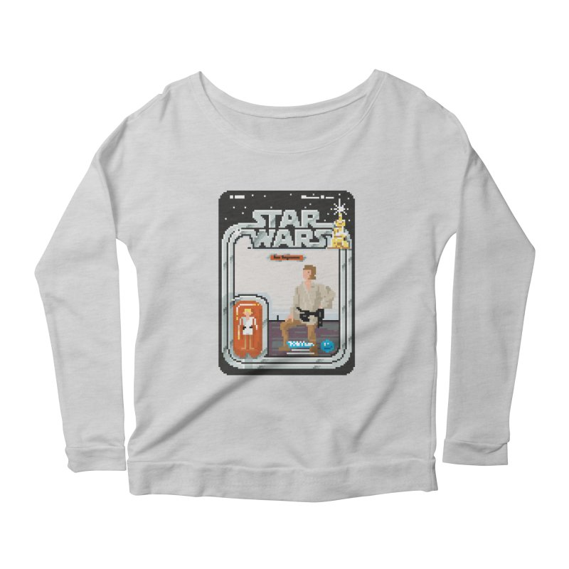 May the Pixels be With You... Always Women's Longsleeve Scoopneck  by euphospug