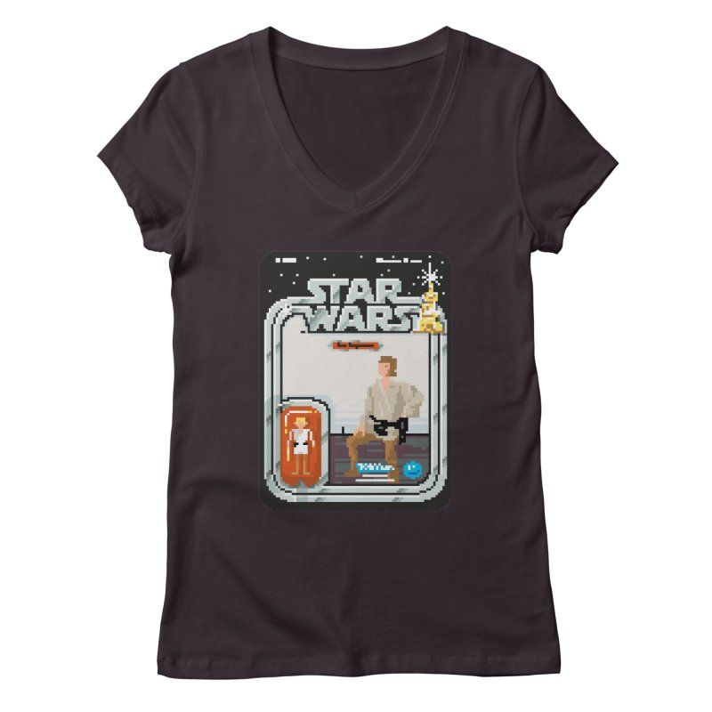 May the Pixels be With You... Always Women's V-Neck by euphospug