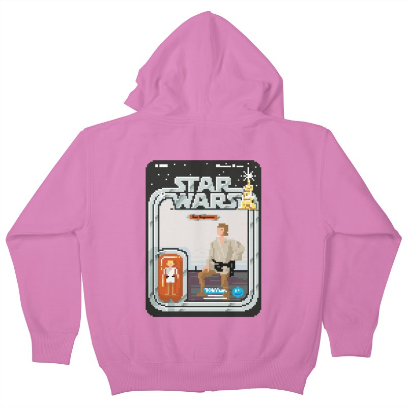 May the Pixels be With You... Always Kids Zip-Up Hoody by euphospug