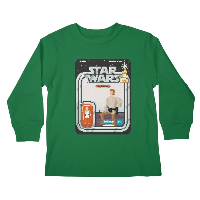 May the Pixels be With You... Always Kids Longsleeve T-Shirt by euphospug