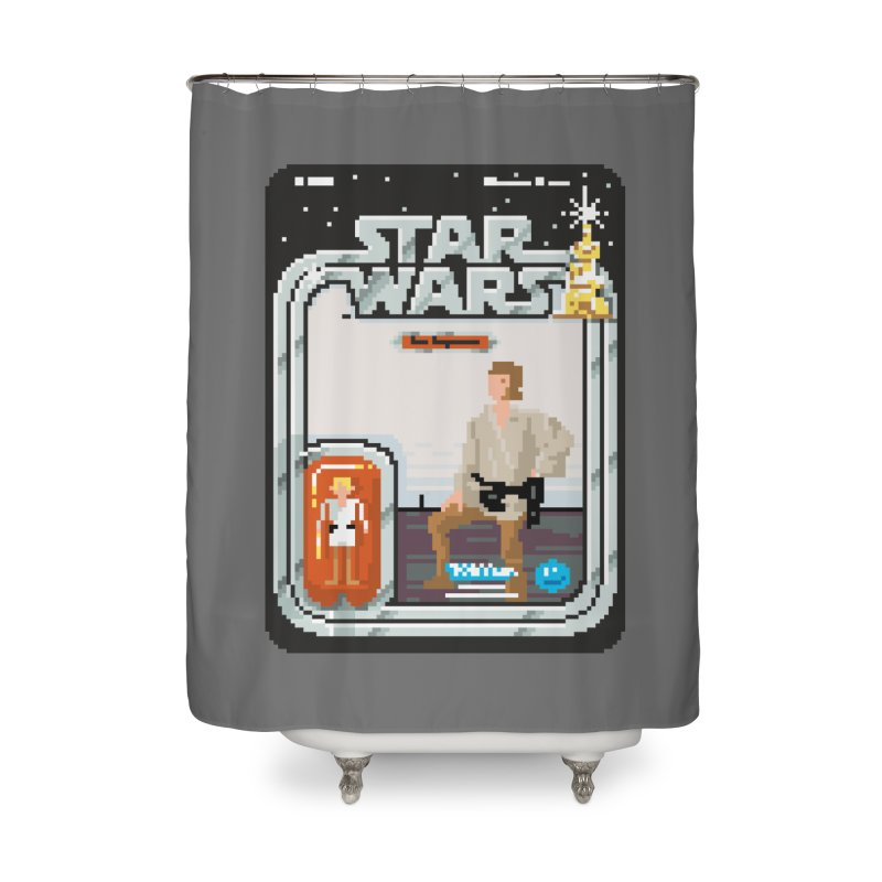 May the Pixels be With You... Always Home Shower Curtain by euphospug