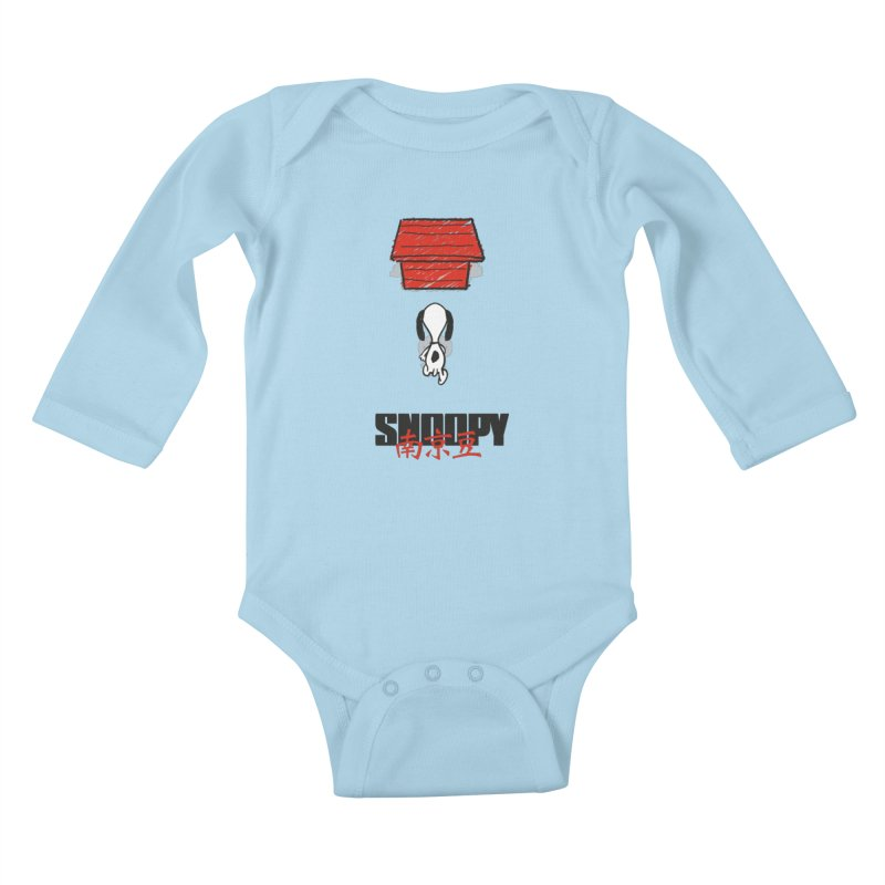 Snoopkira! Kids Baby Longsleeve Bodysuit by euphospug