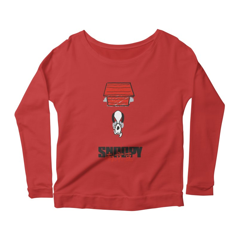 Snoopkira! Women's Longsleeve Scoopneck  by euphospug