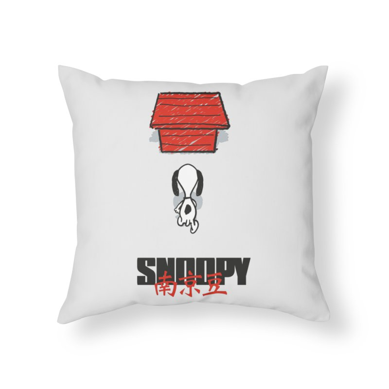 Snoopkira! Home Throw Pillow by euphospug