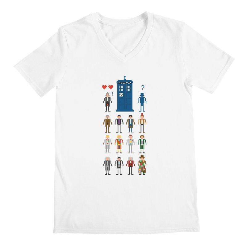Dr Who's Next? Men's V-Neck by euphospug