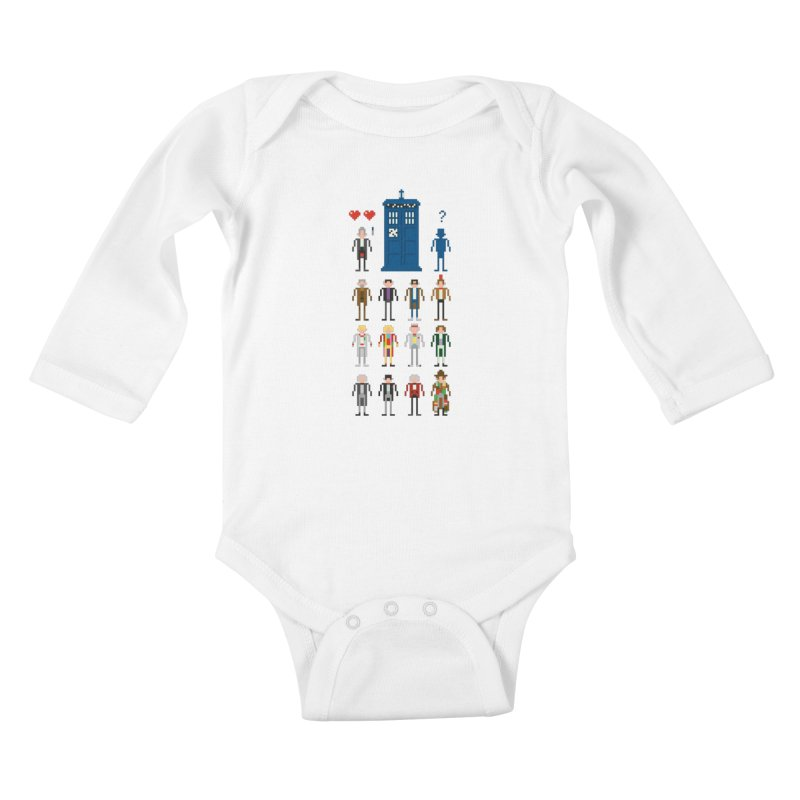 Dr Who's Next? Kids Baby Longsleeve Bodysuit by euphospug