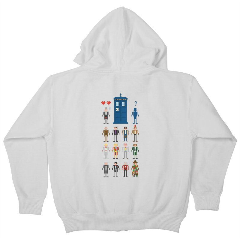 Dr Who's Next? Kids Zip-Up Hoody by euphospug