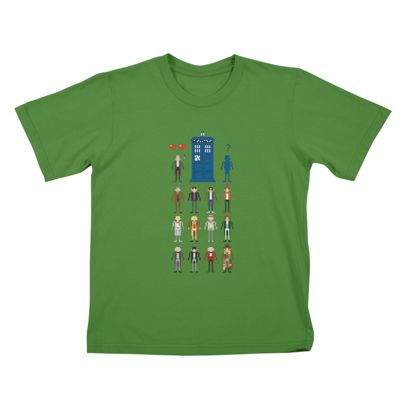 Dr Who's Next? Kids T-Shirt by euphospug