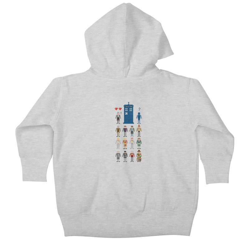 Dr Who's Next? Kids Baby Zip-Up Hoody by euphospug