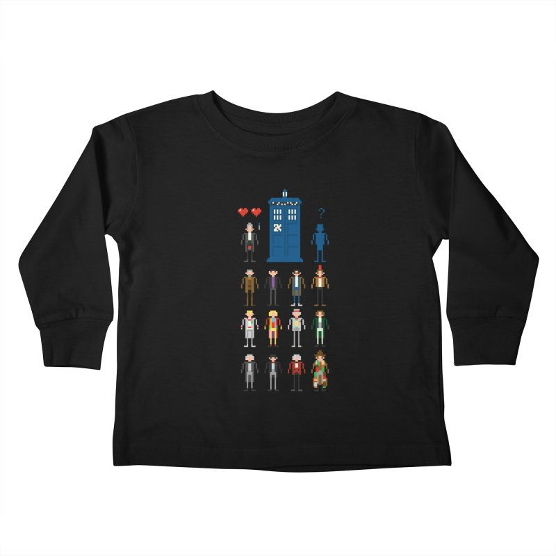 Dr Who's Next? Kids Toddler Longsleeve T-Shirt by euphospug