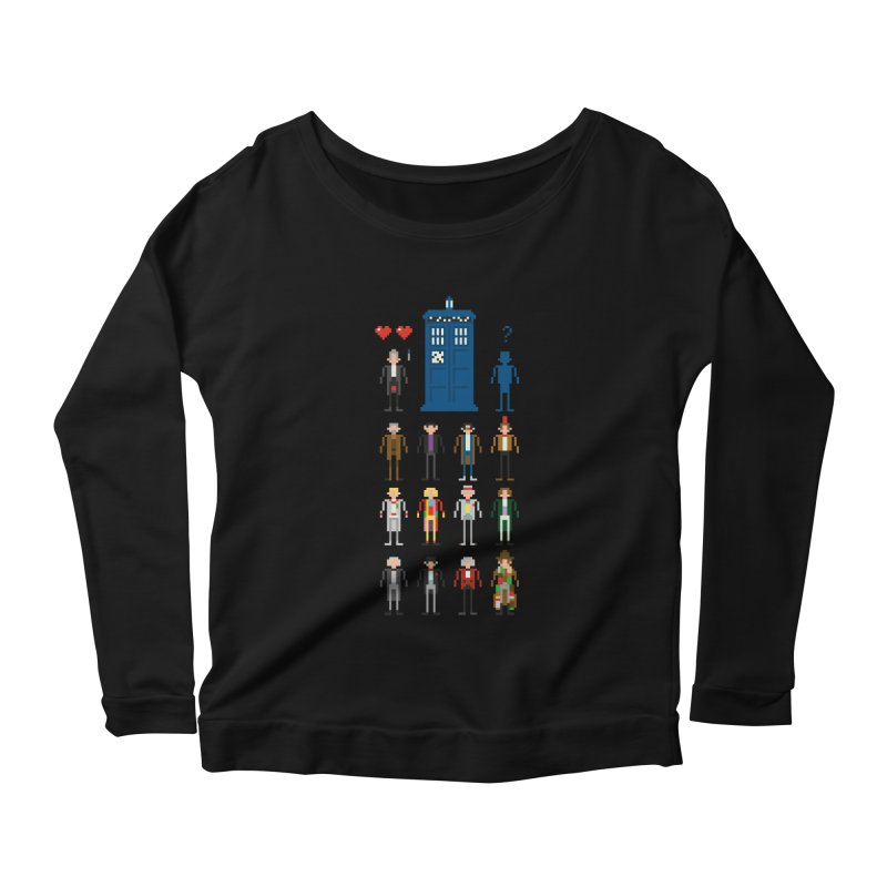 Dr Who's Next? Women's Longsleeve Scoopneck  by euphospug