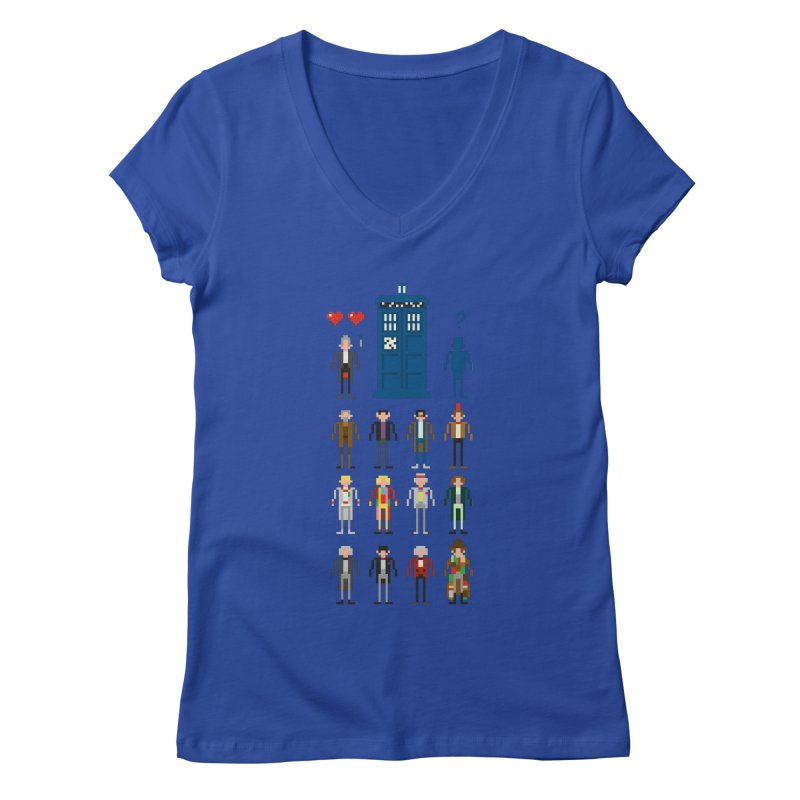 Dr Who's Next? Women's V-Neck by euphospug