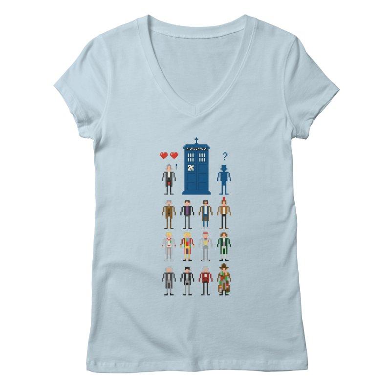 Dr Who's Next? Women's V-Neck by euphospug