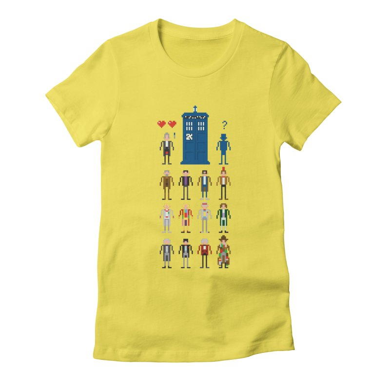 Dr Who's Next? Women's Fitted T-Shirt by euphospug