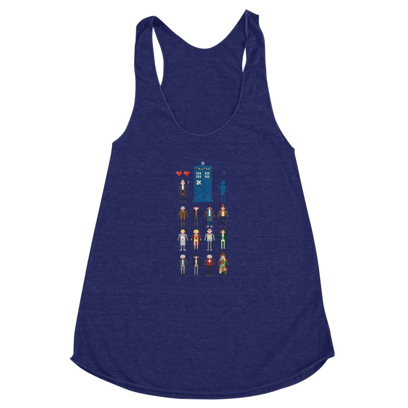 Dr Who's Next? Women's Racerback Triblend Tank by euphospug