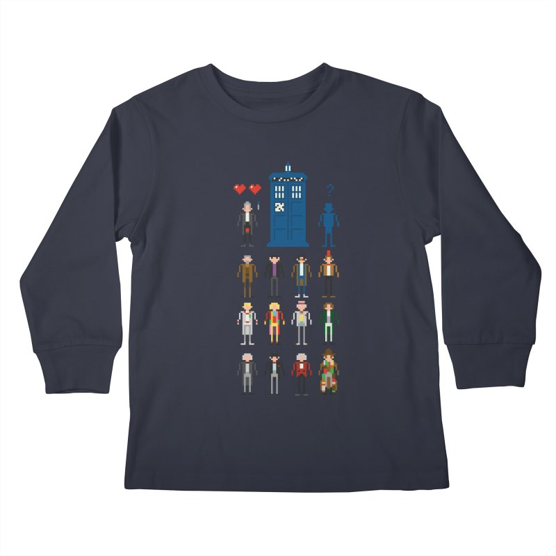 Dr Who's Next? Kids Longsleeve T-Shirt by euphospug