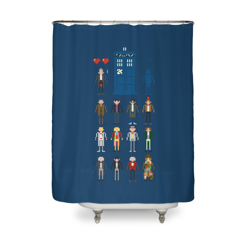 Dr Who's Next? Home Shower Curtain by euphospug