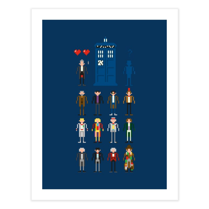 Dr Who's Next? Home Fine Art Print by euphospug