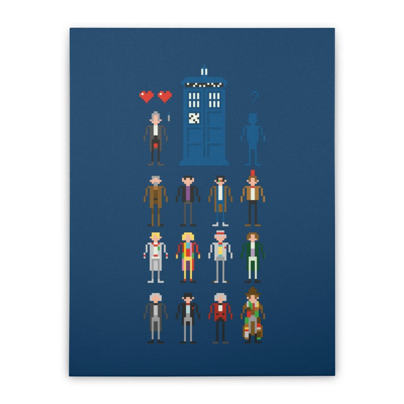 Dr Who's Next? Home Stretched Canvas by euphospug