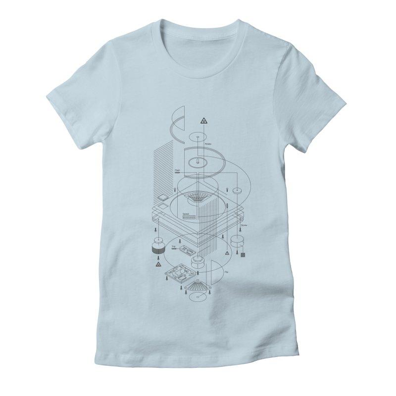 Slick1200alt Women's Fitted T-Shirt by euphospug