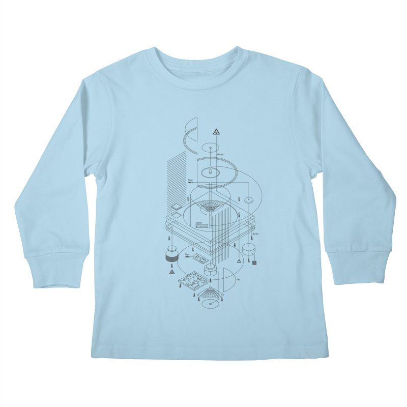 Slick1200alt Kids Longsleeve T-Shirt by euphospug