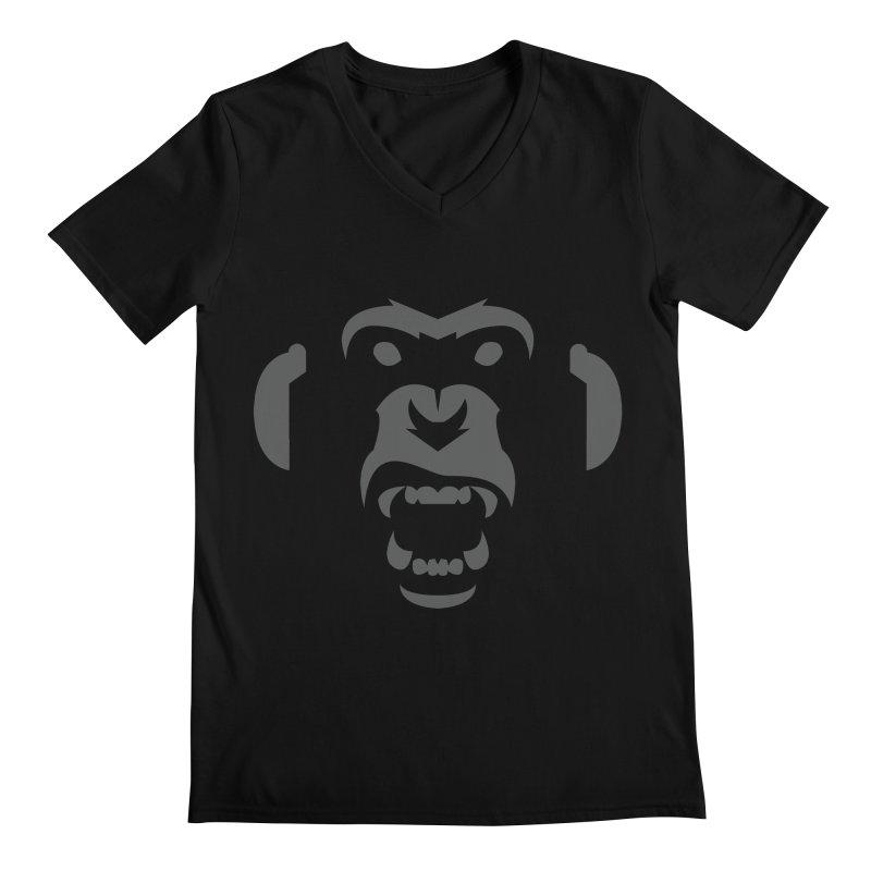 AngryMonkeyLabelLogo01 Men's V-Neck by euphospug