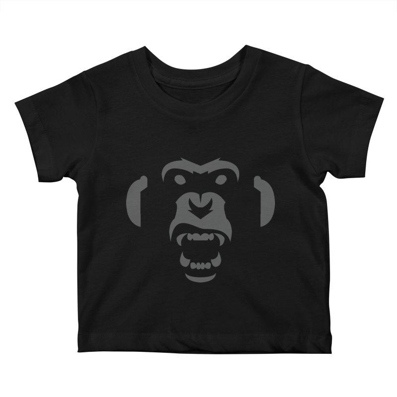 AngryMonkeyLabelLogo01 Kids Baby T-Shirt by euphospug