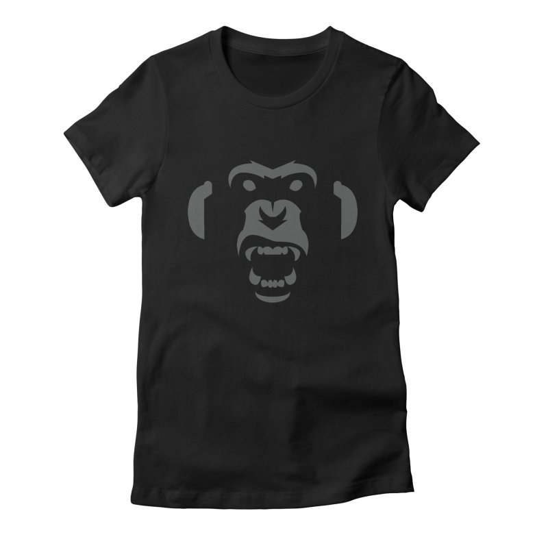 AngryMonkeyLabelLogo01 Women's Fitted T-Shirt by euphospug