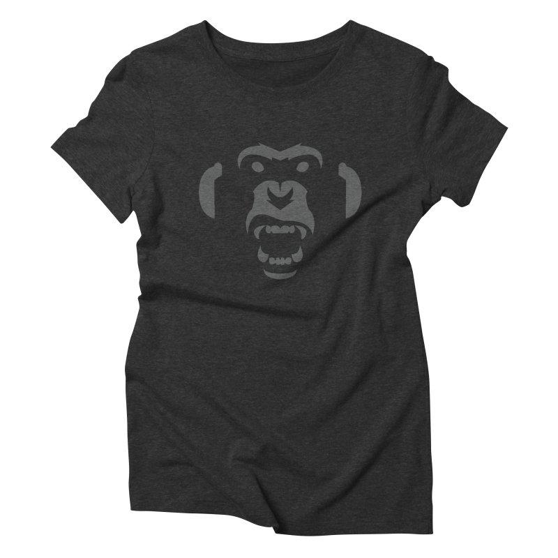 AngryMonkeyLabelLogo01 Women's Triblend T-shirt by euphospug