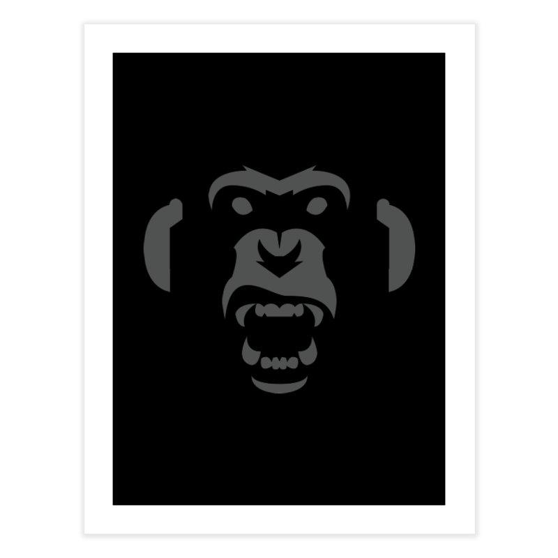 AngryMonkeyLabelLogo01 Home Fine Art Print by euphospug