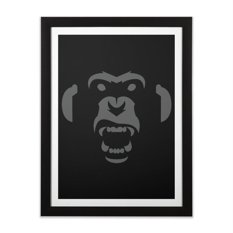 AngryMonkeyLabelLogo01 Home Framed Fine Art Print by euphospug