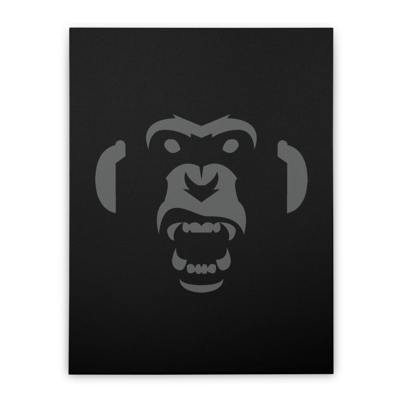 AngryMonkeyLabelLogo01 Home Stretched Canvas by euphospug