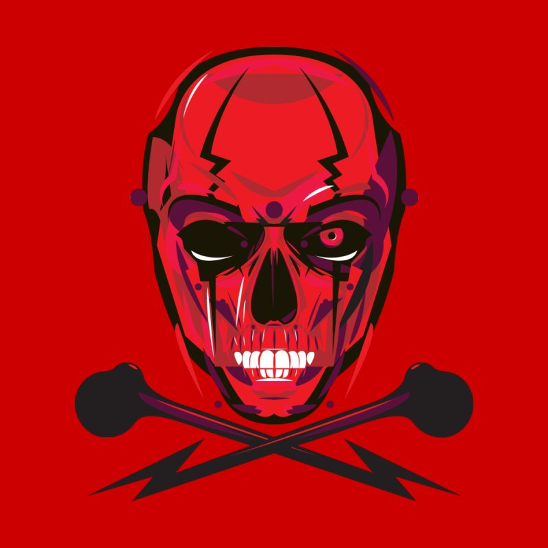 Red Skull and Cross Bones by euphospug