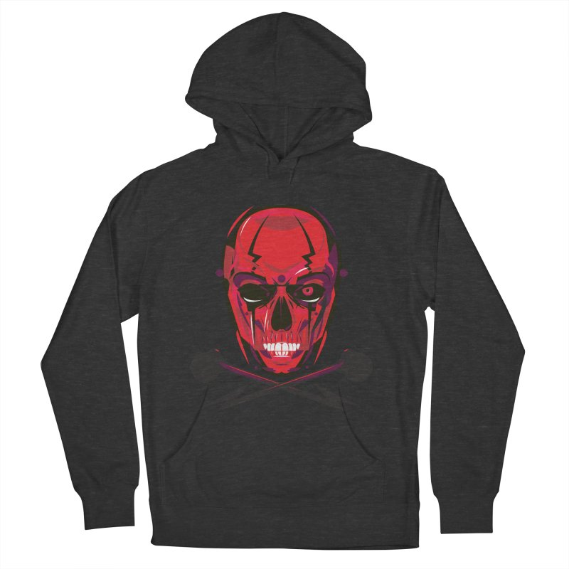 Red Skull and Cross Bones Men's Pullover Hoody by euphospug