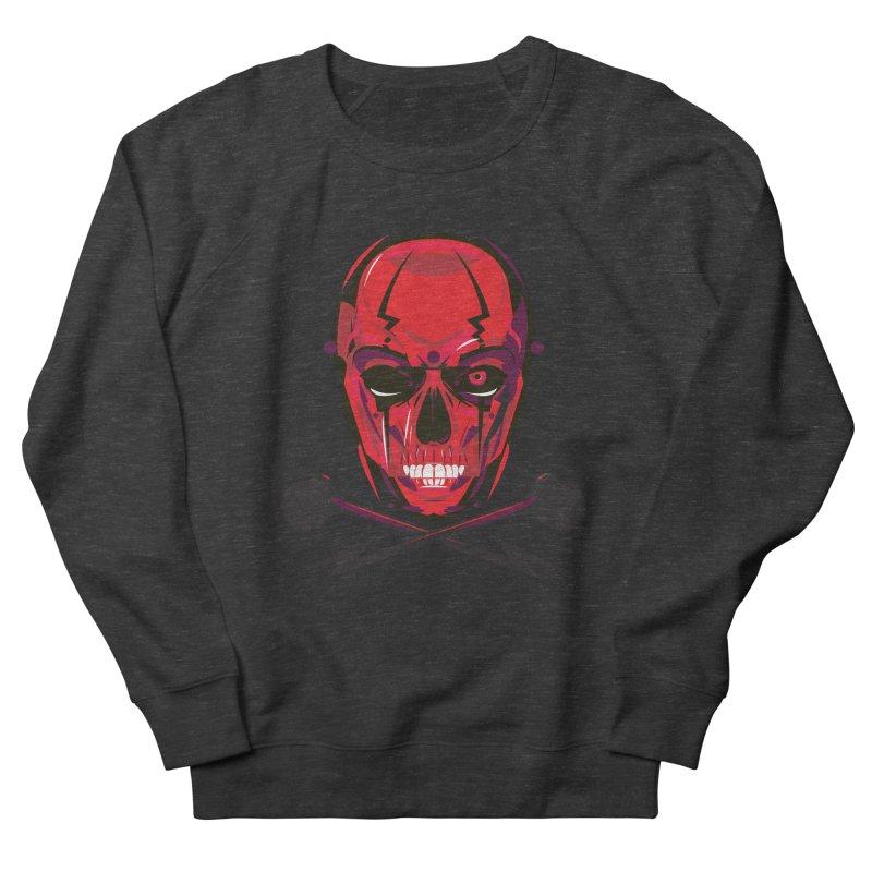 Red Skull and Cross Bones Men's Sweatshirt by euphospug