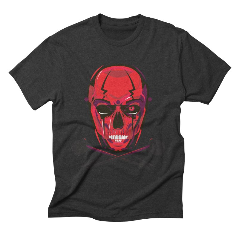 Red Skull and Cross Bones Men's Triblend T-shirt by euphospug