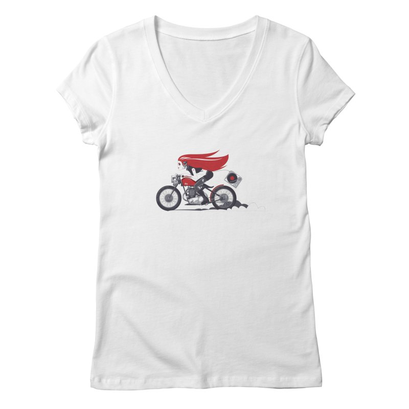 Portable Music Women's V-Neck by euphospug