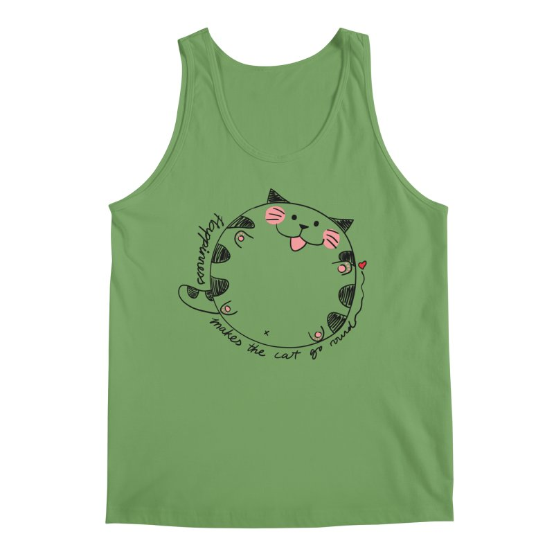 Happiness makes the cat go round Men's Tank by Evacomics Online Shop