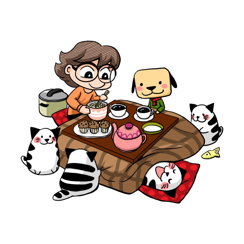 Kotatsu family Women's T-Shirt by Evacomics Online Shop