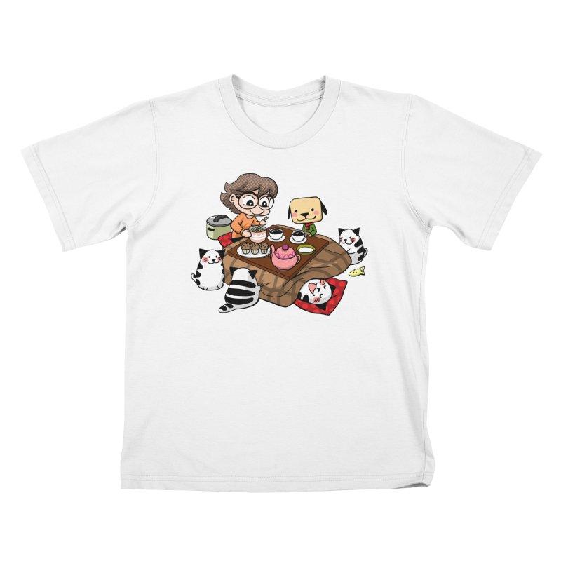 Kotatsu family Kids T-Shirt by Evacomics Online Shop
