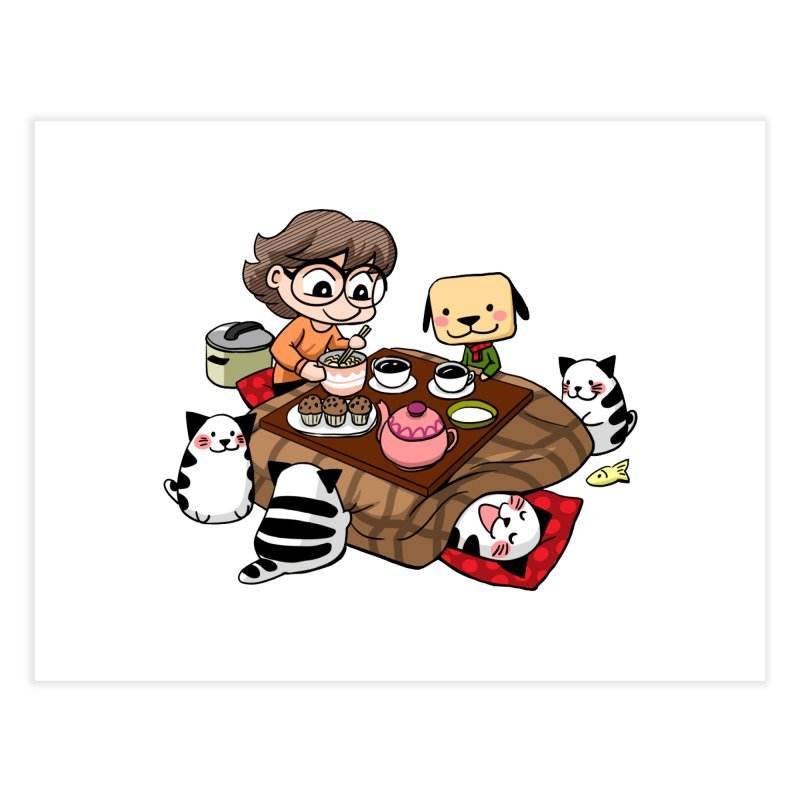 Kotatsu family Home Fine Art Print by Evacomics Online Shop