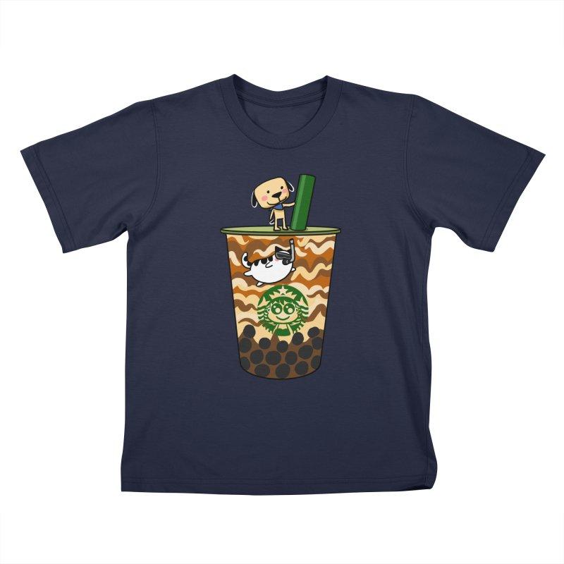 Boba Bubble tea Kids T-Shirt by Evacomics Online Shop