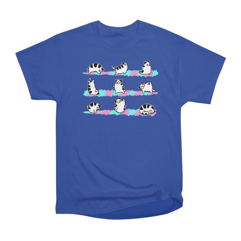 Cat yoga Men's T-Shirt by Evacomics Online Shop