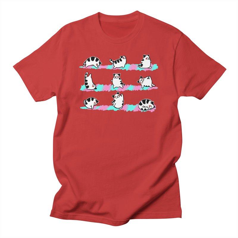 Cat yoga Women's T-Shirt by Evacomics Online Shop